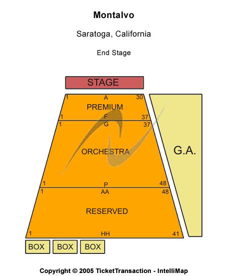 Montalvo Seating Chart