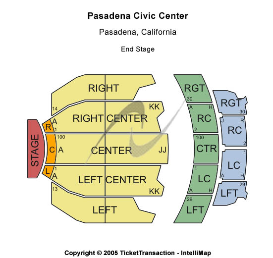 Pasadena Civic Auditorium Seating Chart