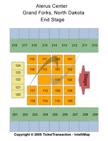 Alerus Center Seating Map