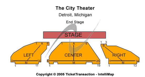 The City Theatre Seating Chart
