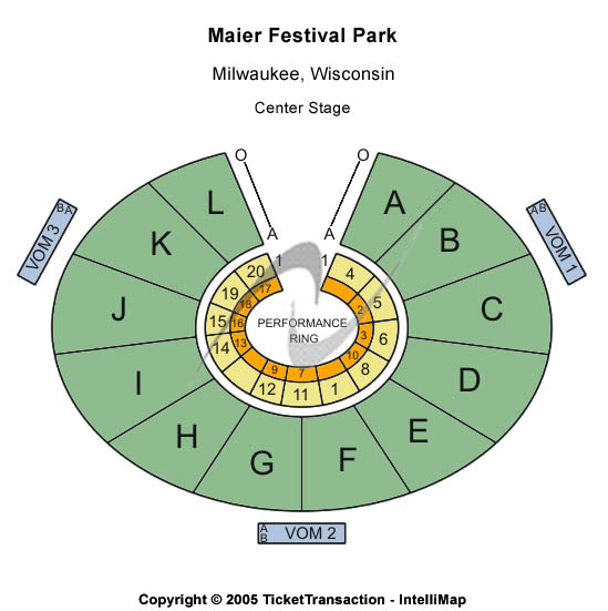 Summerfest Grounds At Henry Maier Festival Park Seating Chart