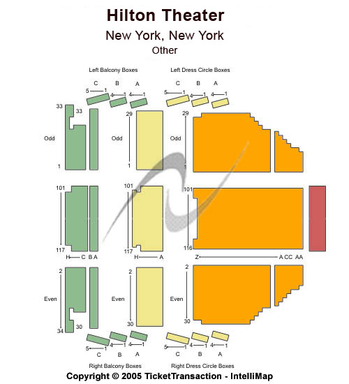 Lyric Theatre - New York Seating Chart