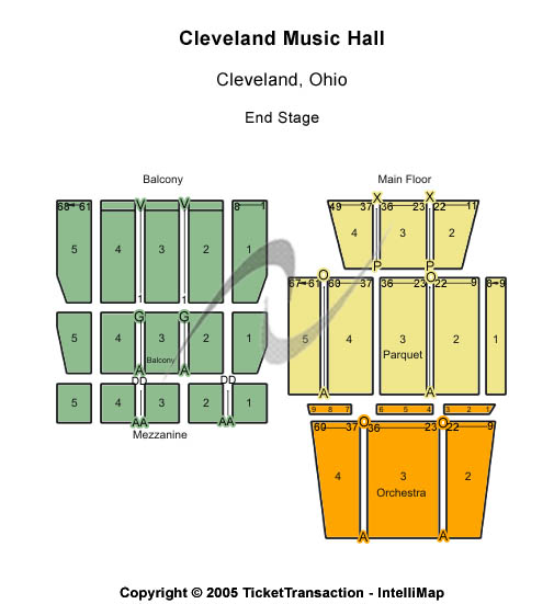 Music Hall Cleveland Seating Map