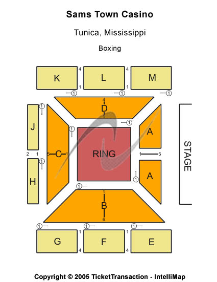 Sams Town Casino Seating Chart