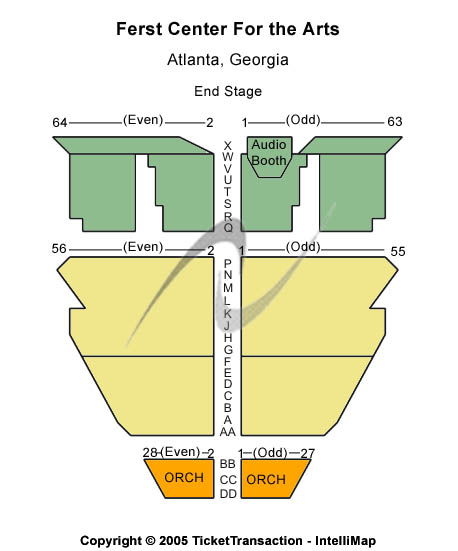 Ferst Center For The Arts Seating Chart