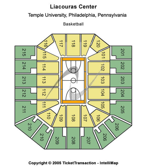 Liacouras Center Seating Map