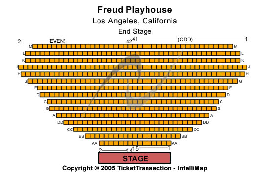 Freud Playhouse Seating Chart