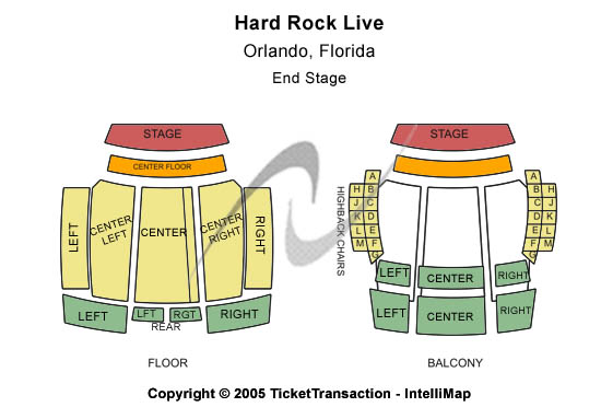 Hard Rock Live Seating Chart