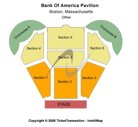 Bank of America Pavilion Seating Chart