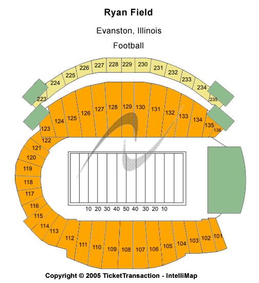 Ryan Field Seating Map