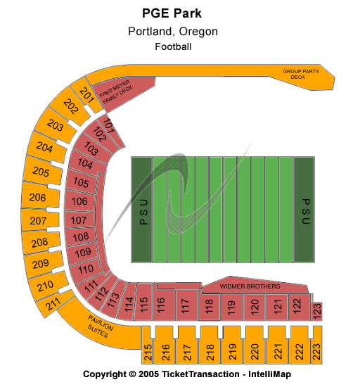Pge Park Seating Map