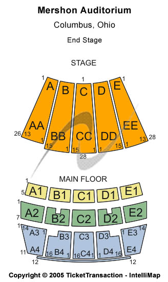 Mershon Auditorium Seating Chart