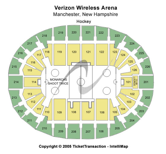 Verizon Wireless Arena-nh Seating Map