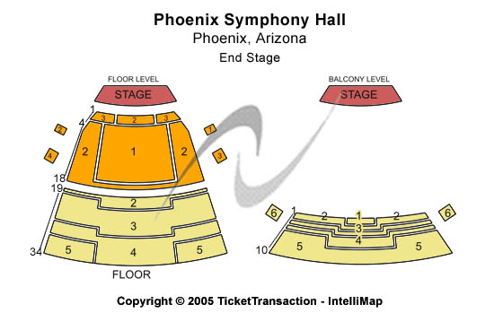 Phoenix Symphony Hall Seating Chart