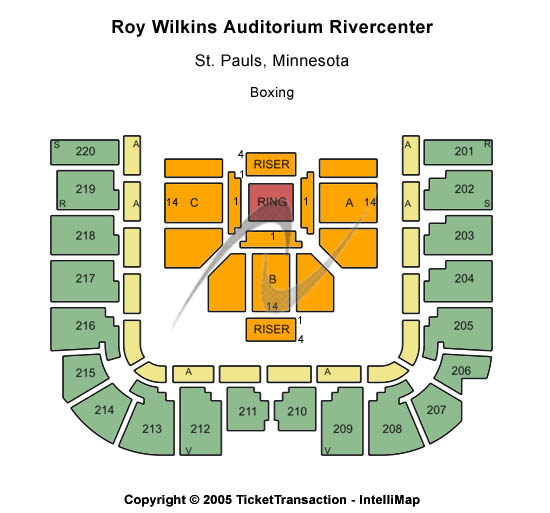 Roy Wilkins Auditorium At Rivercentre Seating Chart