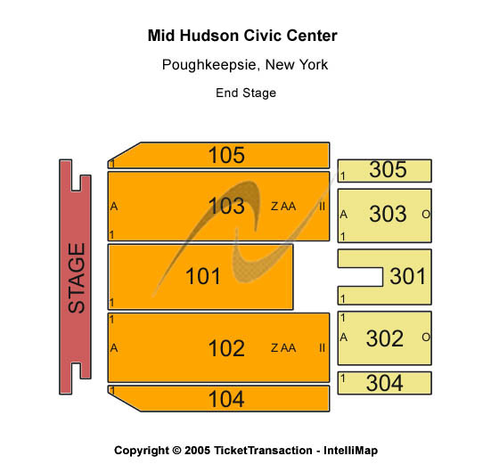 Mid Hudson Civic Center Seating Map