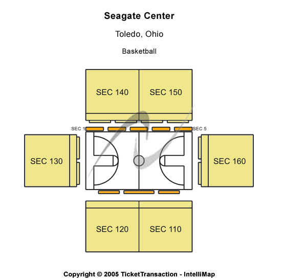 Seagate Center Seating Map