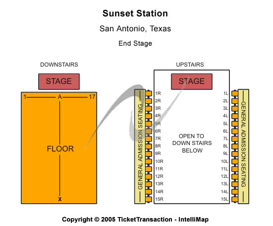 Lonestar Pavilion at Sunset Station Seating Chart