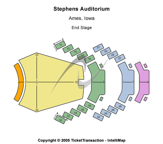 Stephens Auditorium Seating Chart