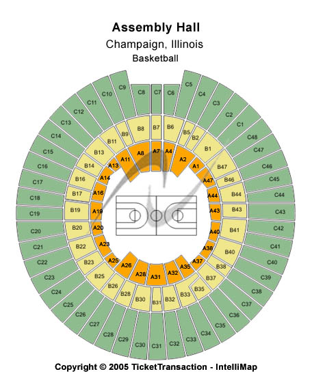 Assembly Hall Seating Chart