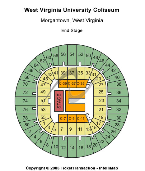 West Virginia University Coliseum Seating Chart