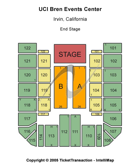 UCI Bren Events Center Seating Chart