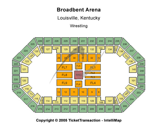 Broadbent Arena Seating Chart