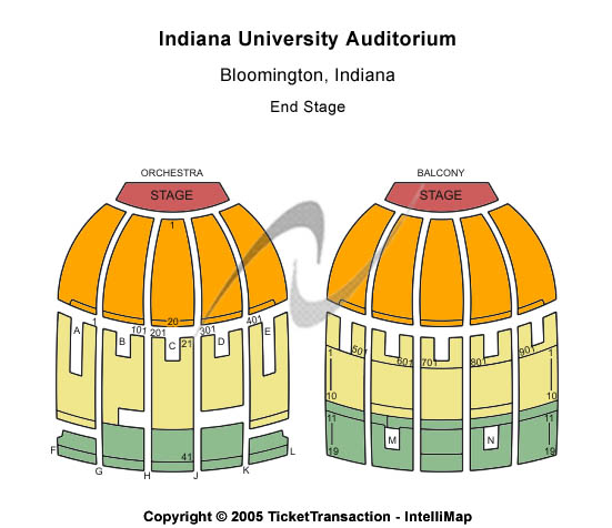 Indiana University Auditorium Seating Map