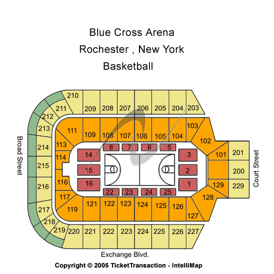 Blue Cross Arena Seating Chart: Basketball