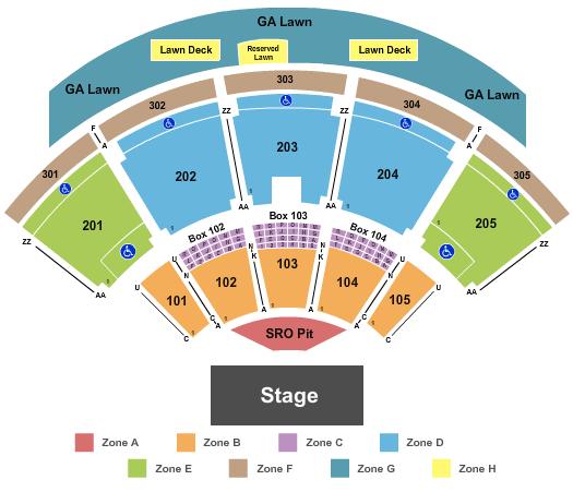 Ak-Chin Pavilion Seating Chart: Endstage GA Pit Int Zone