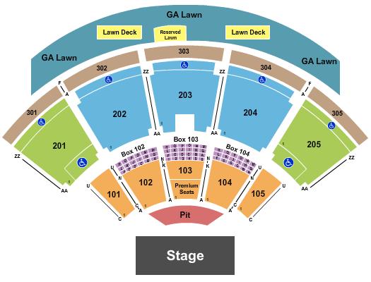 Ak-Chin Pavilion Seating Chart: Endstage Pit 2