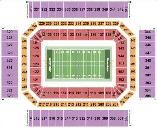 Alamodome Seating Chart: Football