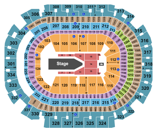 American Airlines Center Seating Chart: The Weeknd