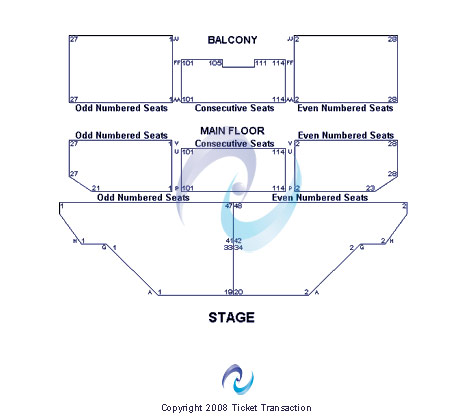 Auburn Performing Arts Center Seating Chart