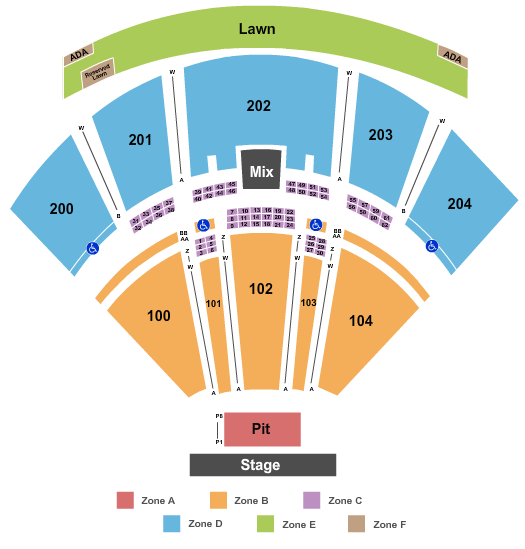 BB&T Pavilion Seating Chart