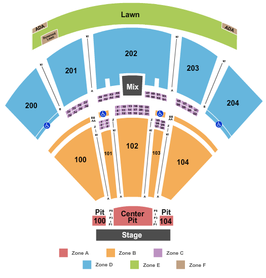 BB&T Pavilion Seating Chart