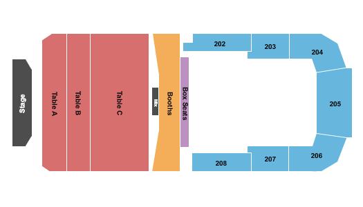 Bayou Music Center Seating Chart