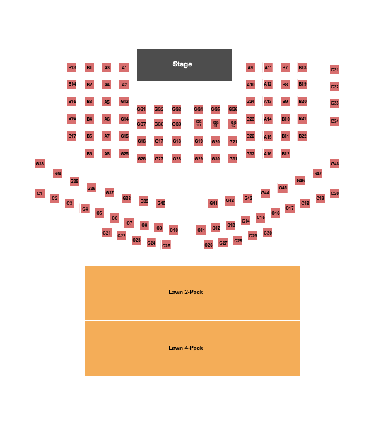 Beaver Dam Amphitheater Seating Chart