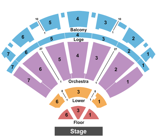 Bellco Theatre Seating Chart