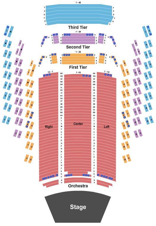 Benaroya Hall Seating Chart