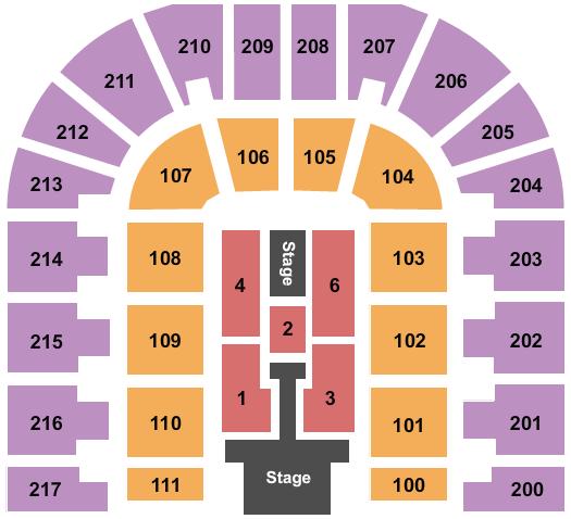 Bert Ogden Arena Seating Chart