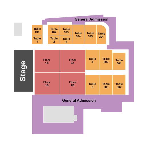Big Night Live Seating Chart
