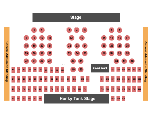 Billy Bobs Seating Chart: Texas Country Music Awards