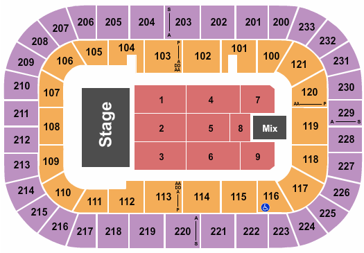 Bon Secours Wellness Arena Seating Chart