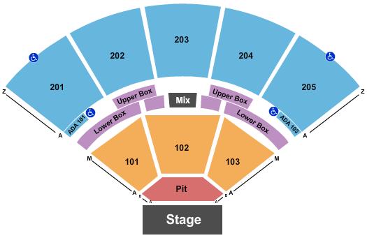 Brandon Amphitheater Seating Chart