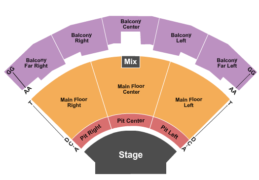 Brown County Music Center Seating Chart