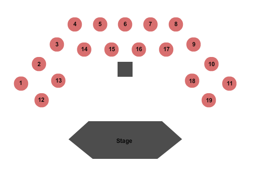 Bugsy's Cabaret at Flamingo Hotel Seating Chart