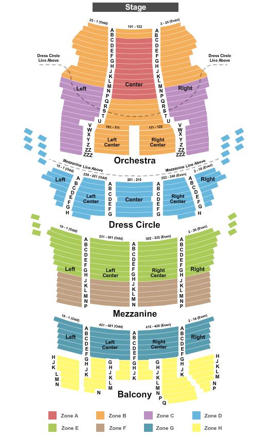 CIBC Theatre Seating Chart