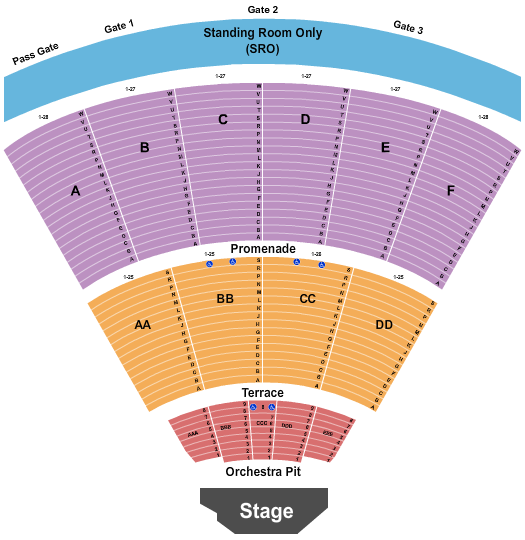 Cal Coast Credit Union Open Air Theatre Seating Chart