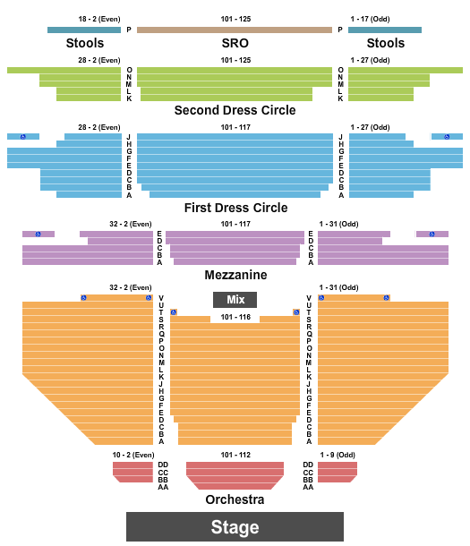 Carpenter Theatre at Dominion Energy Center Seating Chart